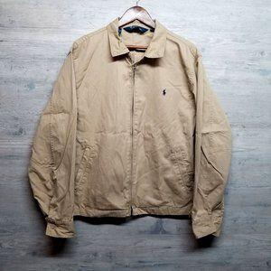 Vintage Polo Ralph Lauren Khaki Canvas Jacket.